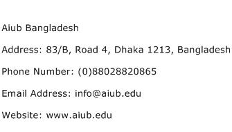 Aiub Bangladesh Address Contact Number