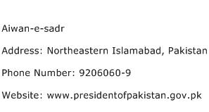 Aiwan e sadr Address Contact Number