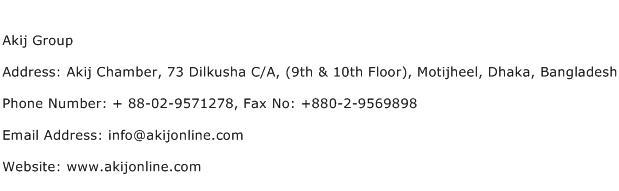 Akij Group Address Contact Number
