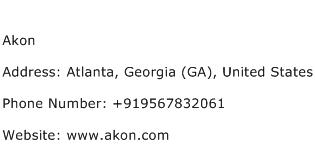 Akon Address Contact Number