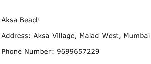 Aksa Beach Address Contact Number
