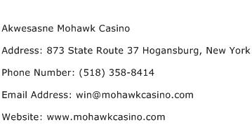 Akwesasne Mohawk Casino Address Contact Number