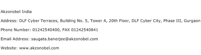 Akzonobel India Address Contact Number