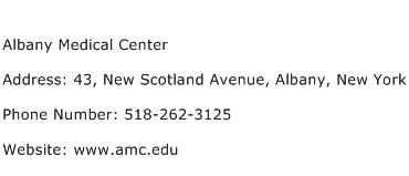Albany Medical Center Address Contact Number