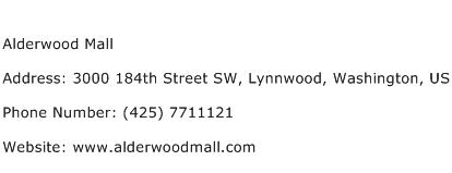 Alderwood Mall Address Contact Number