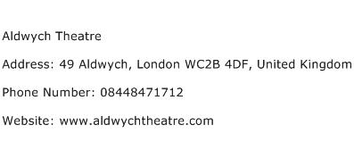 Aldwych Theatre Address Contact Number