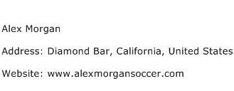 Alex Morgan Address Contact Number
