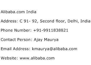 Alibaba.com India Address Contact Number