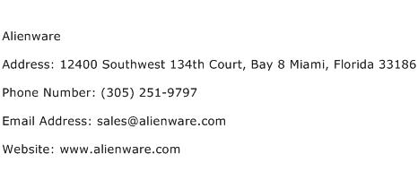 Alienware Address Contact Number