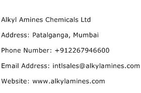 Alkyl Amines Chemicals Ltd Address Contact Number