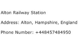 Alton Railway Station Address Contact Number