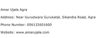 Amar Ujala Agra Address Contact Number