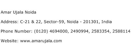 Amar Ujala Noida Address Contact Number