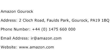 Amazon Gourock Address Contact Number