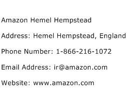 Amazon Hemel Hempstead Address Contact Number