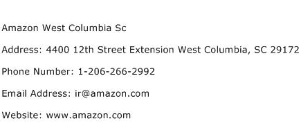 Amazon West Columbia Sc Address Contact Number