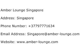 Amber Lounge Singapore Address Contact Number