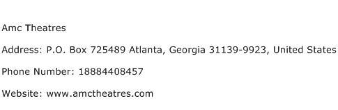 Amc Theatres Address Contact Number