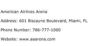 American Airlines Arena Address Contact Number