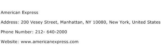 American Express Address Contact Number