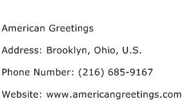 American Greetings Address Contact Number