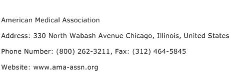 American Medical Association Address Contact Number