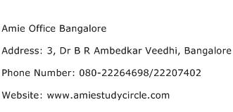 Amie Office Bangalore Address Contact Number