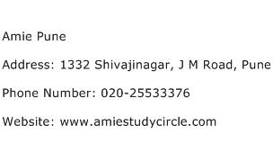 Amie Pune Address Contact Number