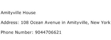 Amityville House Address Contact Number