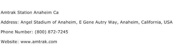 Amtrak Station Anaheim Ca Address Contact Number