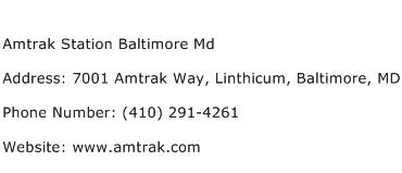 Amtrak Station Baltimore Md Address Contact Number