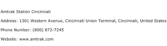 Amtrak Station Cincinnati Address Contact Number