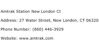 Amtrak Station New London Ct Address Contact Number