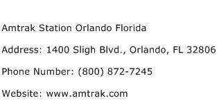 Amtrak Station Orlando Florida Address Contact Number