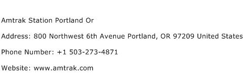 Amtrak Station Portland Or Address Contact Number