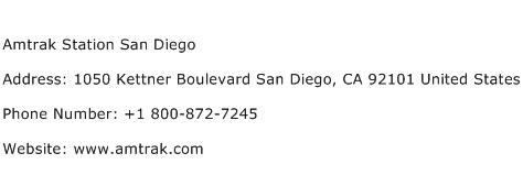 Amtrak Station San Diego Address Contact Number