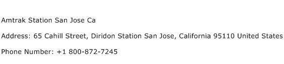 Amtrak Station San Jose Ca Address Contact Number