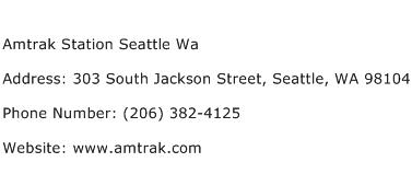 Amtrak Station Seattle Wa Address Contact Number