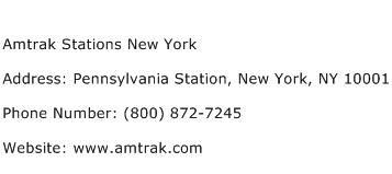 Amtrak Stations New York Address Contact Number