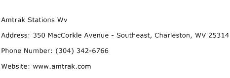 Amtrak Stations Wv Address Contact Number