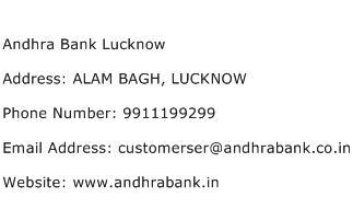Andhra Bank Lucknow Address Contact Number