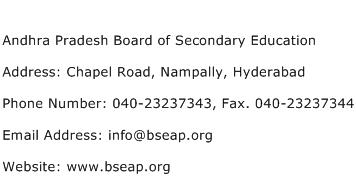 Andhra Pradesh Board of Secondary Education Address Contact Number