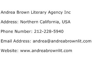 Andrea Brown Literary Agency Inc Address Contact Number