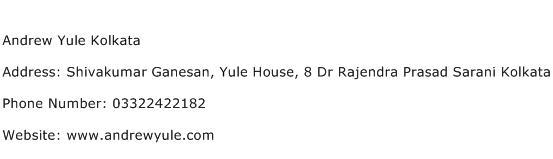 Andrew Yule Kolkata Address Contact Number