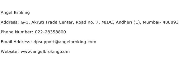 Angel Broking Address Contact Number