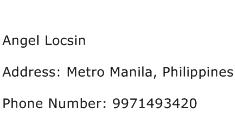 Angel Locsin Address Contact Number
