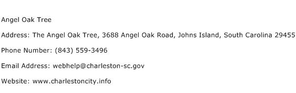 Angel Oak Tree Address Contact Number