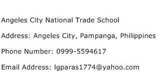 Angeles City National Trade School Address Contact Number
