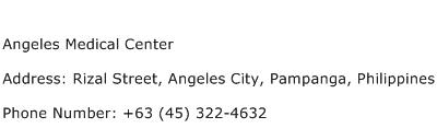 Angeles Medical Center Address Contact Number