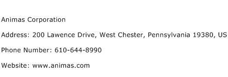 Animas Corporation Address Contact Number